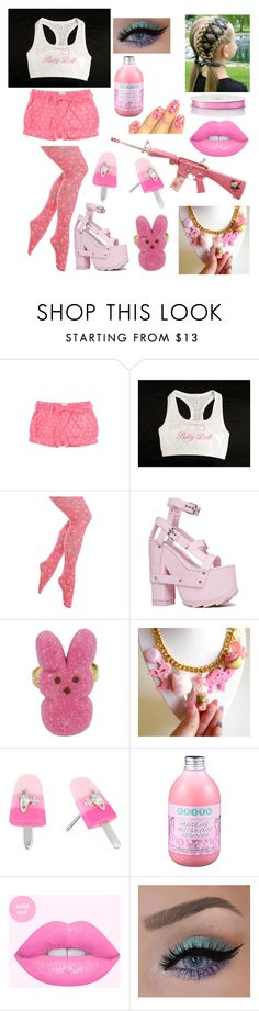 """""""I'm not crazy well maybe a little"""" by lemondrop11 ❤ liked on Polyvore featuring Hello Kitty, Y.R.U., Vivienne Westwood, Forever 21 and Mark & Graham"""