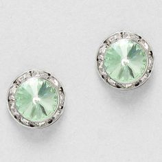 Crystal Lauren Earrings in Chrysolite on Emma Stine Limited  (I want to use this shade of green as part of the ceremony/wedding)