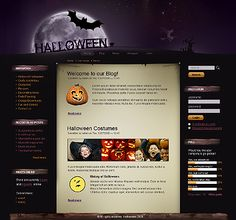 Php Website Templates Halloween Flash Cms Template  Logo Ideas And Logos