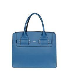 FURLA FURLA WOMEN'S  BLUE LEATHER HANDBAG. #furla #bags #leather #