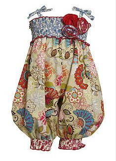 Newborn or Infant Vintage Print Smocked Romper - I want this for my lil one, but it's sold out :-( Maybe there'll be some luck on Amazon.