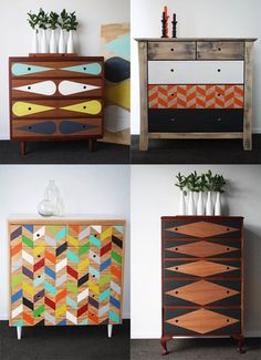 Have fun making your furniture one of a kind by adding colored decal patterns