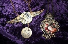 Steam punk altered watch parts jewellery