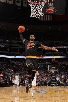 LeBron gets the breakaway dunk 12/29/2015 vs the Nuggets!!!