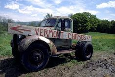 Old truck at Taylor Farm in Londonderry, Vermont