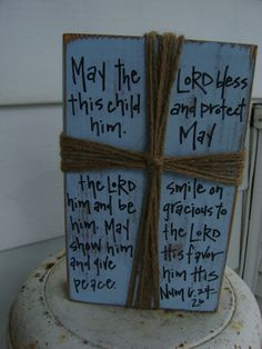 Crosses Cross with scripture Numbers Six by KPATTONDESIGNS on Etsy