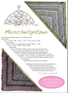 Muschelspitzen-Tuch     Unser beliebtestes Dreieckstuch seit einem Jahr!