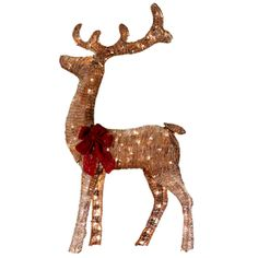 Lovely Holiday Living Lighted Reindeer Outdoor Christmas Decoration With White  Incandescent Lights