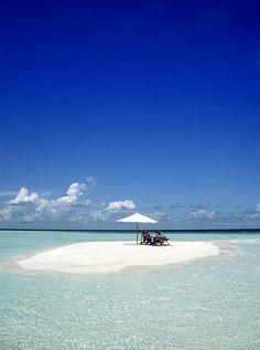Small island in the Maldives