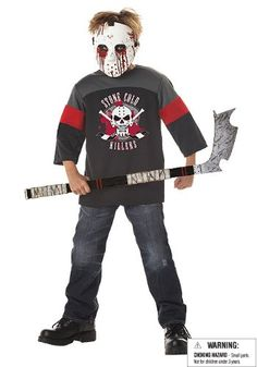 How about Jason in Halloween? Here's spooky halloween costume for kids.