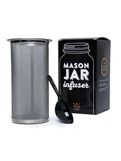 Mason Jar Infuser Filter Fits All Wide Mouth Jar  Cold Brew Coffee Tea Maker At Home  Free Spoon  150 Micron Mesh  304 Stainless -- Learn more by visiting the image link.Note:It is affiliate link to Amazon.