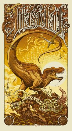 NEED this Jurassic Park poster. It was done for a special showing at Alamo Drafthouse. NEED this Jurassic Park poster. It was done for a special showing at Alamo Drafthouse. Jurassic World Park, Jurassic Park Poster, Jurassic Park 1993, Jurrassic Park, Michael Crichton, Kunst Poster, Poster Design, Poster Prints, Art Prints