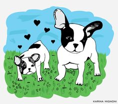 Dogs ♥ Illustration by: Karina Mignoni