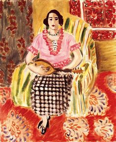 Woman in a Plaid Skirt / Henri Matisse - 1920