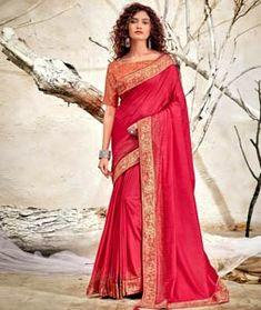 Chanderi Silk Saree Chanderi Silk Saree, Indian Silk Sarees, Bridesmaid Saree, Saree Look, Sari Blouse, Pakistani Designers, Party Wear Sarees, How To Dye Fabric, Festival Wear