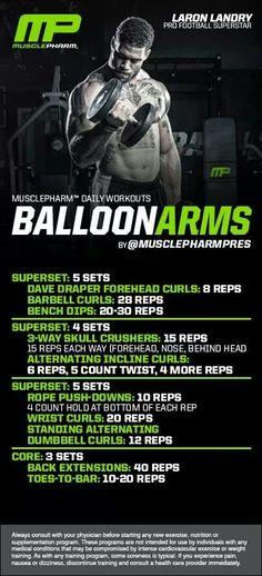 MusclePharm Balloon Arms