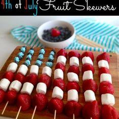 4th Of July Fruit Skewers recipe