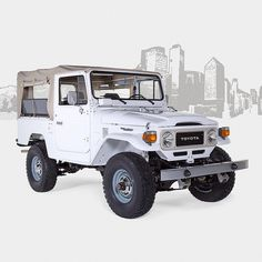 1982 Toyota Land Cruiser FJ43 White #fjcompany #toyota #landcruiser #fj40forsale #fjrestoration #4x4
