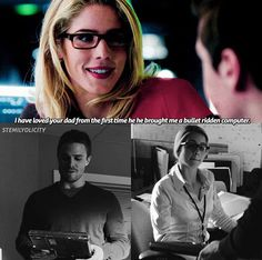 & << I want a conversation where Felicity describes every time Oliver lied to her about a vigilante thing and William to laugh at him about it << Plz DC make it happen Arrow Cw, Team Arrow, Arrow Quote, Supergirl Dc, Supergirl And Flash, Arrow Oliver And Felicity, Felicity Smoak, Arrow Memes, Arrow Funny