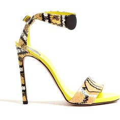 SW1 Onebottoni Zigzag Python High Sandals ($667) ❤ liked on Polyvore