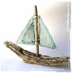 Aquamarine Sails Driftwood Sailboats by TheOliveTreeAtelier #teamupcyclers