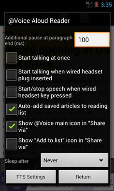@Voice Aloud Reader for Android - Free!