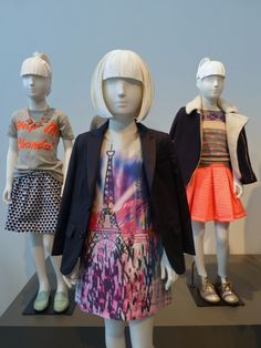 Fall 2013 kids fashion from J Crew, great Eiffel tower print dress in the foreground.