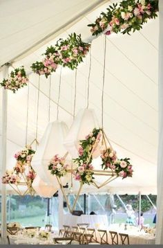 wedding floral geometric hanging width=