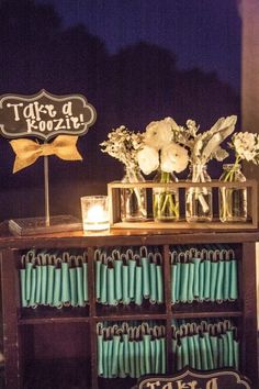 How This Southern Rustic Wedding Crushed It. LOVE the mason jar flower vases