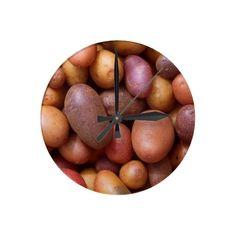 Potatoes Round Clocks