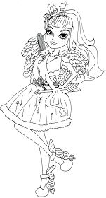 Free Printable Ever After High Coloring Pages: C.A Cupid Ever After High Coloring Page
