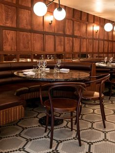 The Dutch &Co brasserie NY-style, by framework.eu   Bentwood Chairs - visit Grand Rapids Chair Co. to order