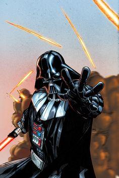 Darth Vader #1 variant cover by Humberto Ramos, colours by Edgar Delgado *