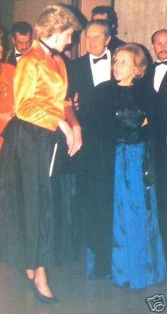 Modern Ballet Gulbenkian Museum, Lisbon - Diana & Charles , le 12 Février 1987