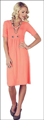 Bailey Coral Modest Dress by Mikarose, Modest Dresses