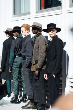 "menstyleblog: ""meninthistown: ""Public School presentation during New York Fashion Week: Men's. "" Follow us for more men's style inspiration!"""