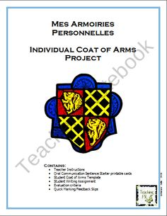 Personal Coat of Arms product from French-Teacher-Resources on TeachersNotebook.com