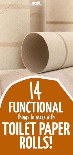 You'll love these fun and functional toilet paper roll crafts - because why not upcycle them and get something new? These cardboard tube crafts are totally unique and easy to make. Toilet Paper Roll Diy, Paper Towel Roll Crafts, Toilet Roll Craft, Paper Towel Tubes, Paper Towel Rolls, Toilet Paper Roll Crafts, Diy Paper, Kids Toilet, Towel Crafts
