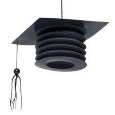 Black Mortarboard Graduation Lanterns (2)