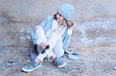 Cream and Grey, Beanie Grey Beanie, Winter White, Adidas Sneakers, Cream, Shoes, Style, Fashion, Adidas Tennis Wear, Creme Caramel