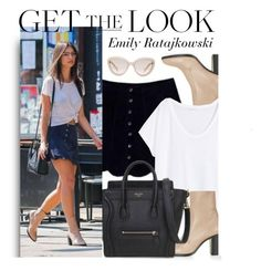 """Celebrity Look - Emily Ratajkowski"" by monmondefou ❤ liked on Polyvore featuring Topshop, H&M, Prada, celebrity, CelebrityStyle and emilyratajkowski"