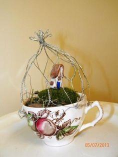 tea cup fairy garden - Google Search