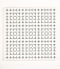 2 Trames de Tirets Simple Francois Morellet 1974 museumuesum