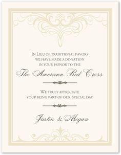Flirty Eyes Wedding Donation Card Charity Card Wedding Favor