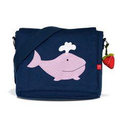 Kindergartentaschen - Kindergartentasche Wal rosa Taschenfarbe Tasche bl - ein Designerstück von LaFraiseRouge bei DaWanda