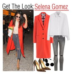 """Get the Look: Selena Gomez"" by sadia1998 ❤ liked on Polyvore featuring New Look, Miu Miu, Christian Louboutin, Emilio Pucci and Y's by Yohji Yamamoto"