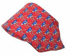 Cavenagh of London Silk Necktie Ostrich on Red Twill 58 In by 3.75 In Classic #CavenaghofLondon #NeckTie