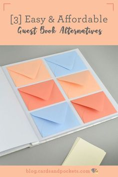 If you're looking for a DIY Wedding Guest Book alternative, take a look at three ideas that are easy, affordable, unique, and creative.