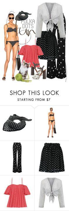 """polka dot fun"" by daincyng ❤ liked on Polyvore featuring Dolce&Gabbana, Monse, Ganni, Anna October, Lisa Marie Fernandez and PolkaDots"