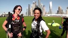 Fast and Furious star Michelle Rodriguez at Skydive Dubai! YOUTUBE